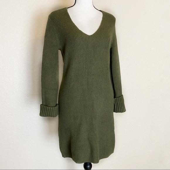 Something Navy Dresses & Skirts - Something Navy Green Sweater Dress